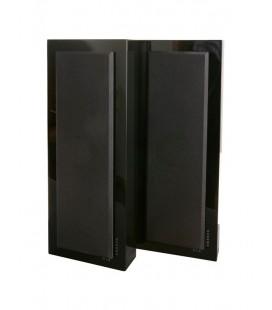 Boxe de perete DLS Flatbox Slim Large Gloss Black - pereche
