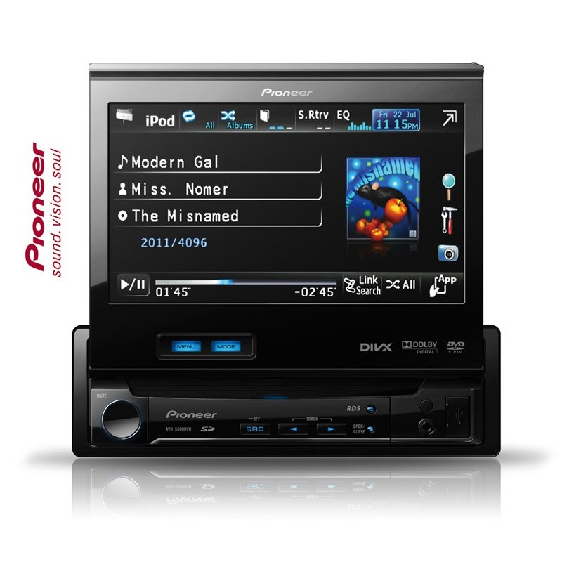 pioneer avh 5300dvd dvd player auto. Black Bedroom Furniture Sets. Home Design Ideas