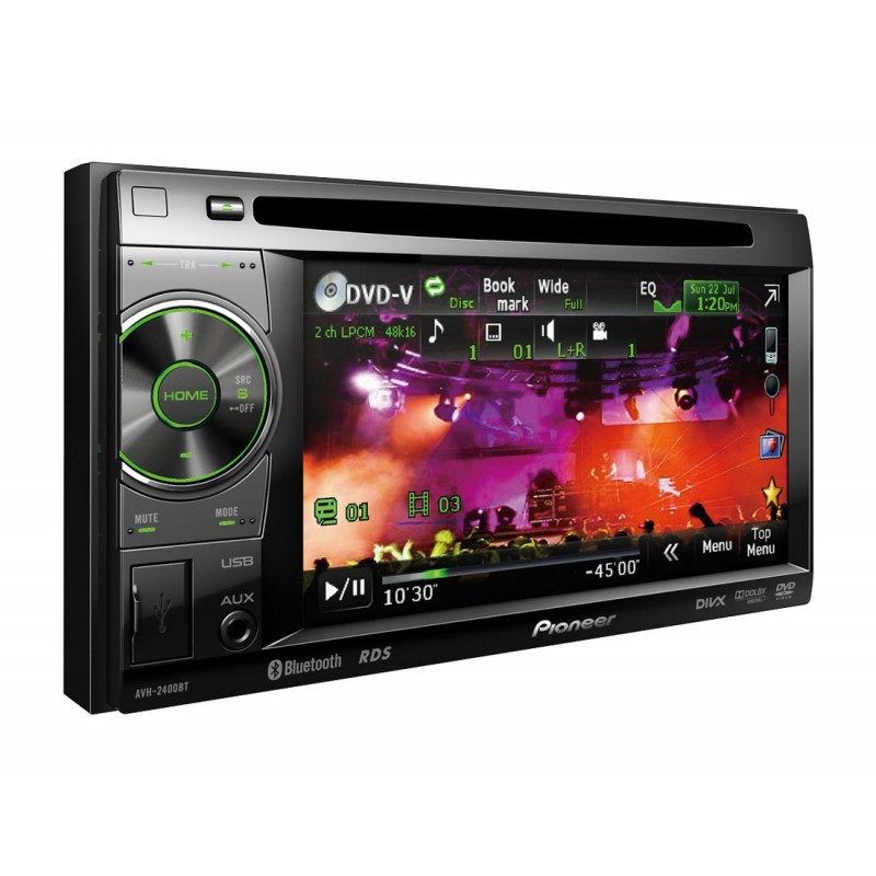 pioneer avh 2400bt dvd player auto 2 din. Black Bedroom Furniture Sets. Home Design Ideas
