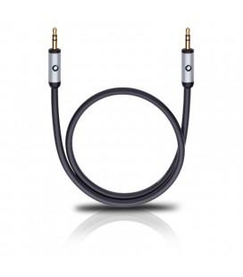 Cablu Oehlbach 60011 black 0.5m, audio stereo jack-jack 3.5 mm