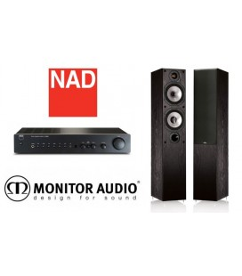 Amplificator NAD C 316BEE + Boxe Monitor Audio MR4, stereo pack