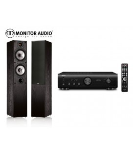 Amplificator stereo Denon PMA-520AE+Boxe Monitor Audio MR4