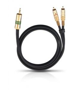 Cablu Oehlbach 2056 Y-Adaptor jack-2RCA, cablu stereo 1.0m