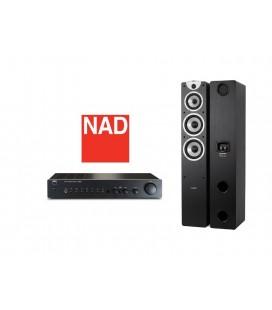 Amplificator NAD C 316 BEE cu Boxe Boxe Dynavoice Magic F7 EX Blac