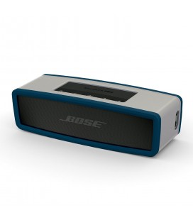 Boxa portabila wireless Bose SoundLink Mini SERIE II CARBON cu HUSA SOFT COVER NAVY BLUE