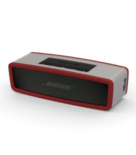 Boxa portabila wireless Bose SoundLink Mini SERIE II CARBON cu HUSA SOFT COVER DARK RED