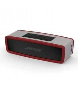 Boxa portabila wireless Bose SoundLink Mini SERIE II CARBON cu HUSA SOFT COVER DARK RED