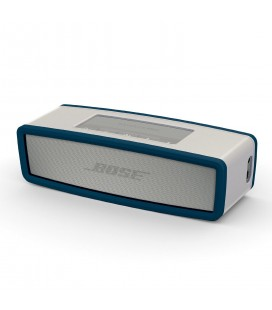 Boxa portabila wireless Bose SoundLink Mini SERIE II PEARL cu HUSA SOFT COVER NAVY BLUE
