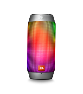 Boxa wireless portabila JBL Pulse 2 SILVER cu Bluetooth si LED Lights