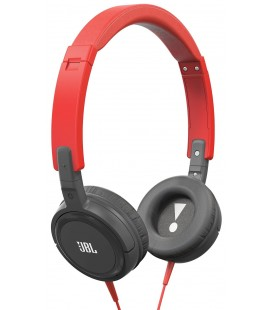 Casti on ear mini cu microfon JBL T300 Red-Gray