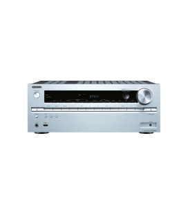 Network AV Receiver Onkyo TX-NR646 Silver 7.2 surround UHD 4K, Hi-Res Audio, Wi-fi, DTS-X, Bluetooth