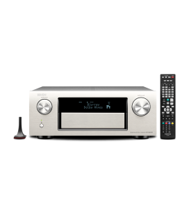 Receiver AV 9.2 Denon AVR-X6200W Silver Wi-Fi, Airplay, Bluetooth, 4K Ultra HD, HDCP 2.2