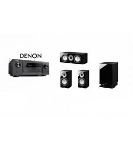 Receiver DENON AVR-X1200 cu Set Boxe 3.1 Magnat Quantum 673, 63 Center, Sub 6725A