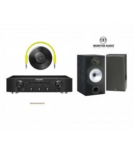 Amplificator stereo Marantz PM5005 Black cu Boxe Monitor Audio MR2 si Google Chrome Cast