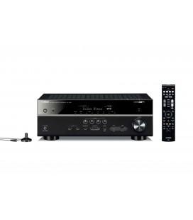 Receiver AV 7.2 Yamaha RX-V581 Black, Wi-Fi, Bluetooth, 4K Ultra HD, HDCP 2.2, MusicCast