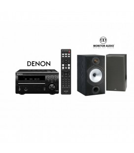 Micro sistem stereo Hi-fi Denon RCD-M40 cu Boxe Monitor Audio MR2 si Google Chrome Cast