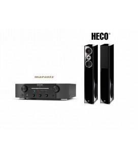 Amplificator stereo Marantz PM7005 Black cu Boxe Heco Aleva GT 1002