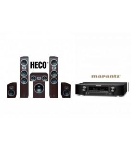 Receiver Marantz NR1606 cu Set Boxe 5.1 Heco Victa Prime 702, 202, C102, SUB 252A