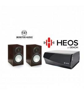 Amplificator Denon Heos Amp cu Boxe Monitor Audio Bronze Silver 1