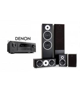 Receiver DENON AVR-X1200 cu Set Boxe 5.0 Eltax Universe 5
