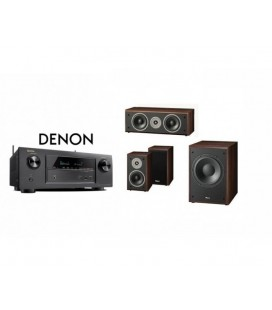 Receiver DENON AVR-X1200 cu Set Boxe 3.1 Magnat Supreme 102, center 252, Sub 202a