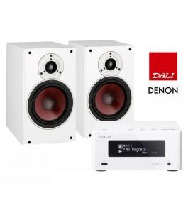 Network Receiver Stereo Denon Ceol RCD N4 White cu Boxe De Raft Dali Zensor 3 White