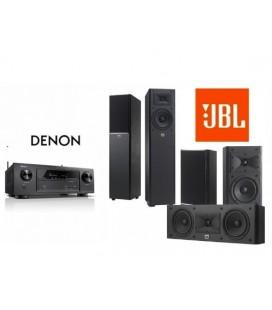 Receiver Denon AVR-X1200W cu Set Boxe 5.0 JBL Arena 170, 125C, 120 Black
