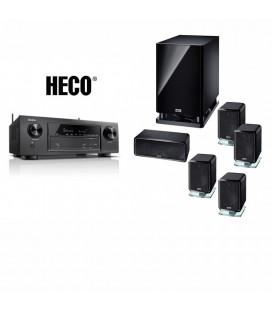 Receiver Denon AVR-X1300W cu Set de Boxe 5.1 Heco Ambient 5.1A