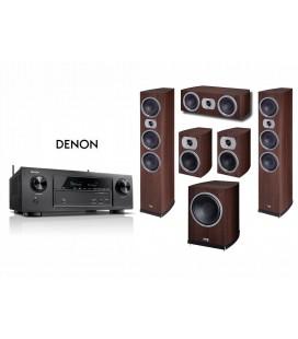 Receiver AV Denon AVR-X2300W cu Set Boxe 5.1 Heco Victa Prime 702, 202, Center 102, Sub252a