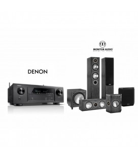 Receiver Denon AVR-X1300W cu Set Boxe 5.1 Monitor Audio Bronze 5 SET 5.1
