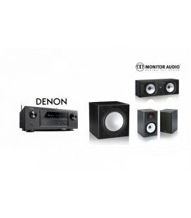 Receiver DENON AVR-X1300 cu Set Boxe 3.1 Monitor Audio MR1, MR Center, MR-W10