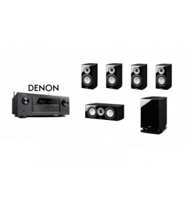 Receiver DENON AVR-X1300 cu Set Boxe 5.1 Magnat Quantum 673, Center 67, Sub 6725A