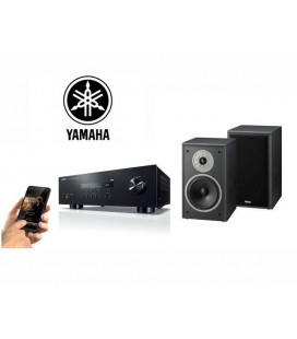 Receiver stereo cu Bluetooth Yamaha R-S202 cu Boxe de raft Magnat Monitor Supreme 202