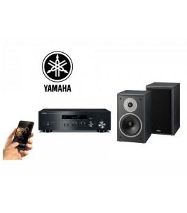 Netvork Receiver Stereo Yamaha R-N301 Black, Airplay, DLNA cu boxe de raft Magnat Supreme 202