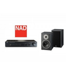 OPEN BOX - Amplificator NAD C 316BEE, amplificator stereo hi-fi cu boxe de raft Magnat Supreme 202