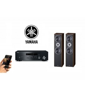 Netvork Receiver Stereo Yamaha R-N301 Black, Airplay, DLNA cu boxe de raft Magnat Supreme 802