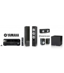 Receiver Yamaha RX-V581 cu set Boxe Monitor Audio MR6 5.1 pack