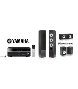 Receiver Yamaha RX-V681 cu Set de Boxe 5.0 Monitor Audio MR6