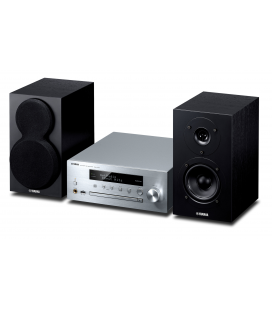Micro sistem stereo Yamaha MCR-N470 Silver Black, Wi-Fi, MusicCast, AirPlay® and Bluetooth®.