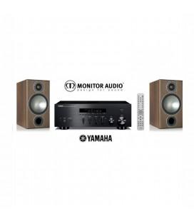 Receiver Yamaha R-N602 cu Boxe de raft Monitor Audio Bronze 2