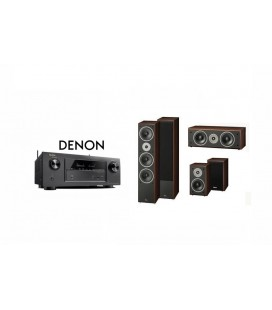 Receiver DENON AVR-X2300 cu Set Boxe 5.0 Magnat Supreme 1002, Center 252, 102