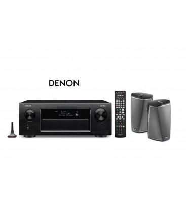 Receiver AV 11.2 Denon AVR-X6300H Black cu Denon Heos 1 Duo Pack