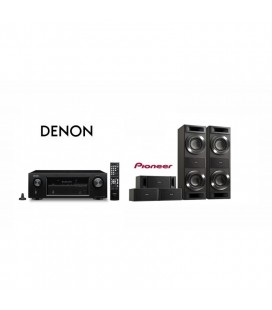 Receiver AV 5.2 Denon AVR-X520BT cu Set Boxe surround 5.0 Pioneer S-RS88TB