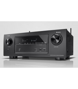 Receiver AV 7.2 Denon AVR-X2400H, 150W per channel, HEOS built-in, Wi-Fi, Airplay, Bluetooth, 4K Ultra HD, Hi-Res