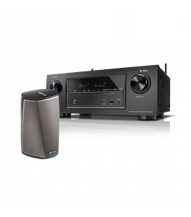 Receiver AV 7.2 Denon AVR-X2400H set Boxe wireless Denon HEOS 1 HS2
