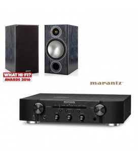 Amplificator Marantz PM5005 Black cu Boxe de raft Monitor Audio Bronze 2