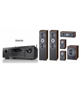 Receiver Denon AVR-X1400H cu Set de Boxe 5.1 Magnat Supreme 802,102,252, Sub 202a