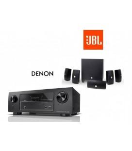 Receiver 7.2 Denon AVR-X1400H cu set de Boxe 5.1 JBL Cinema 610