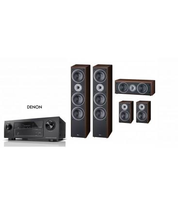 Receiver Denon AVR-X1400H cu Set de Boxe 5.0 Magnat Supreme 1002,102,252