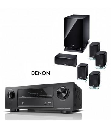 Receiver Denon 7.2 AVR-X1400H cu Set de Boxe 5.1 Heco Ambient 5.1A